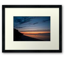 Friendship Beach, Rocky Point, New York Sunset Framed Print