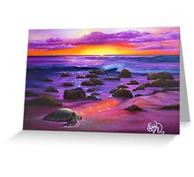 Reflections of Sunlit Honu - greeting card Greeting Card