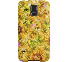 Bright Yellow Sunflower Leggings Samsung Galaxy Case/Skin