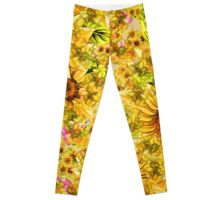 Bright Yellow Sunflower Leggings Leggings