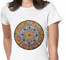 Southwest Compass Womens Fitted T-Shirt