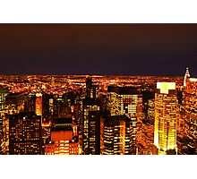Ocean of Light, New York City, USA Photographic Print