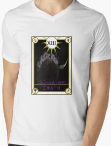 Gravelord Nito Death Tarot Card Mens V-Neck T-Shirt