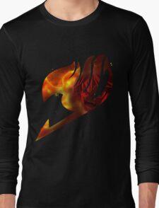 Fairy tail logo, natsu's rage Long Sleeve T-Shirt