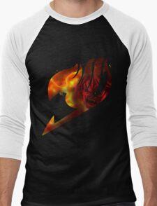 Fairy tail logo, natsu's rage Men's Baseball ¾ T-Shirt