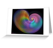 Rainbow Shell Greeting Card