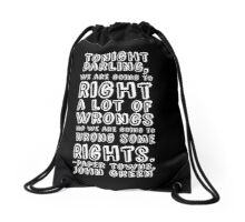 Paper Towns Quote Drawstring Bag