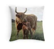 Elma and Moose  26 May 2014 Throw Pillow