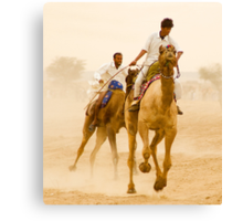 Camels of Rajasthan Canvas Print