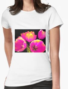 Colours Tulips Womens Fitted T-Shirt