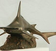 Great Hammerhead Shark sculpture by Shelagh Linton