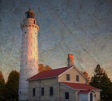 Cana Island Lighthouse ~ Experiment in Texture by Jigsawman
