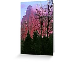 MOONRISE AT SUNSET,CATHEDRAL SPIRE Greeting Card