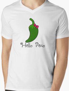 Hello Peno Mens V-Neck T-Shirt