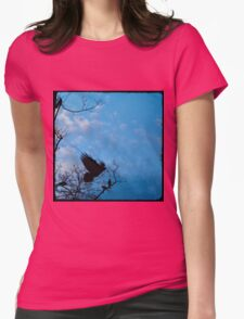 Edge Of The Sky Womens Fitted T-Shirt