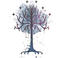 Tree of Gondor, Lord of the Rings by sferyn
