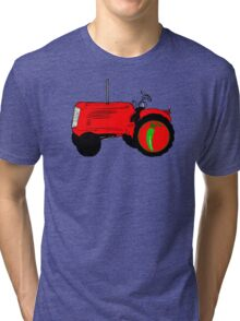 TRACTOR PEPPER communist propaganda Tri-blend T-Shirt