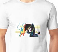 Neon Rainbow Dash - White Unisex T-Shirt