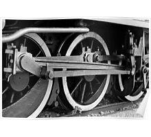 Wheel of a steam train Poster
