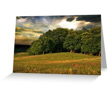 Stormy sky over the groove. Greeting Card