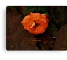 Through the rainiest of times Canvas Print