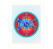 Infinite Love Series-USA mandala of Love Art Print