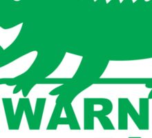 WARNING! Croc Country! with green corocdile! Sticker