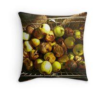 Rotten autumn apples. Throw Pillow