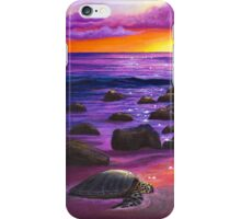 Reflections of Sunlit Honu  iPhone Case/Skin