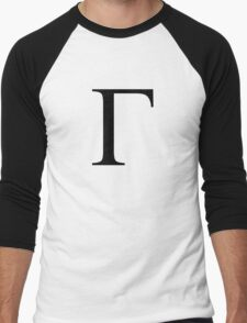 Gamma. Greek alphabet. Men's Baseball ¾ T-Shirt