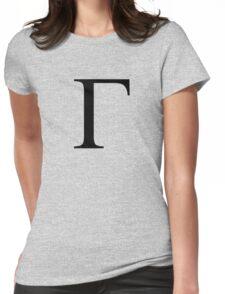 Gamma. Greek alphabet. Womens Fitted T-Shirt