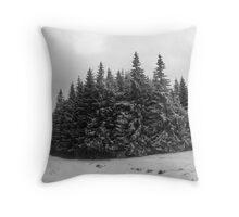 Winter fir trees. Throw Pillow