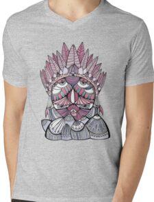 """Pueo"" Multidimensional Owl Mens V-Neck T-Shirt"