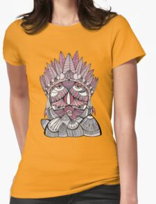 """""""Pueo"""" Multidimensional Owl Womens Fitted T-Shirt"""