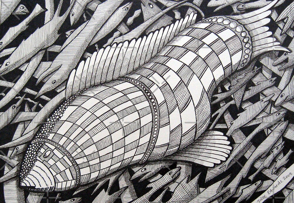 222 - BIG FISH - DAVE EDWARDS - INK - 2009 by BLYTHART