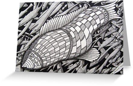 222 - BIG FISH - DAVE EDWARDS - INK - 2009 by BLYTHART