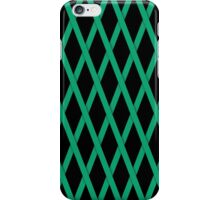 Green Criss Cross Ribbon iPhone Case/Skin
