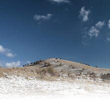 Minimalist hill with hoarfrost. by demigod