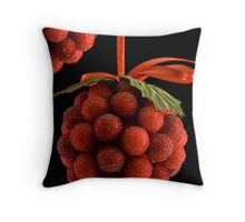 Christmas Berries - Card Throw Pillow