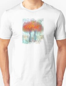 Dazzling Trees in Red, Orange, and Yellow T-Shirt