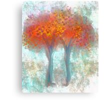 Dazzling Trees in Red, Orange, and Yellow Canvas Print