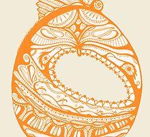 Orange Faberge Egg Henna by iseed