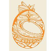 Orange Faberge Egg Henna Photographic Print