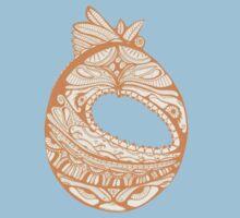 Orange Faberge Egg Henna Kids Clothes