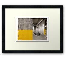 Diptych Yellow Framed Print