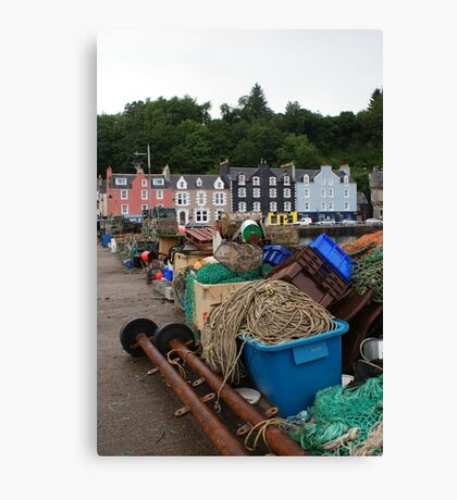 Fishing Gear at Tobermory Canvas Print
