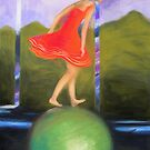 girl on ball by maria paterson