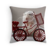 Going for a ride with my bear. Throw Pillow