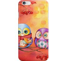 Thanksgiving Owls with Pumpkin Pie iPhone Case/Skin