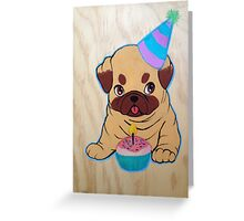 Party Pug! Greeting Card